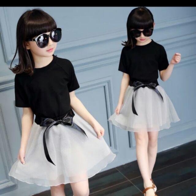 11 歲大童女裝中童夏裝小孩兩件套女童衣服兒童女孩套裙小學生套裝