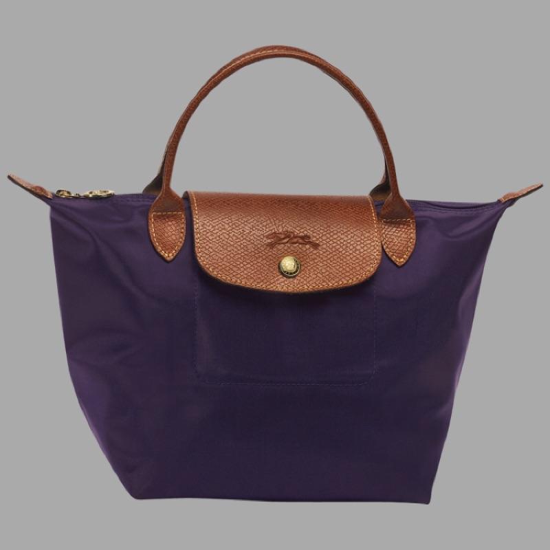 Longch LE PLIAGE 1621 短柄摺疊款S 藍莓色尼龍手提包