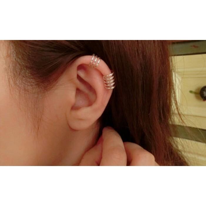 ♡Namast é♡925 純銀 耳骨夾耳勾三環耳夾沒耳洞夾式耳環防過敏耳釘顯白活潑 系列