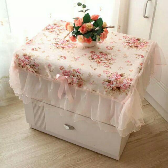 ↘ ↙♡ ♡韓式田園鄉村風蝴蝶結牡丹花公主風紗布蕾絲邊桌巾桌布床頭櫃小桌子小圓多用途桌裝飾