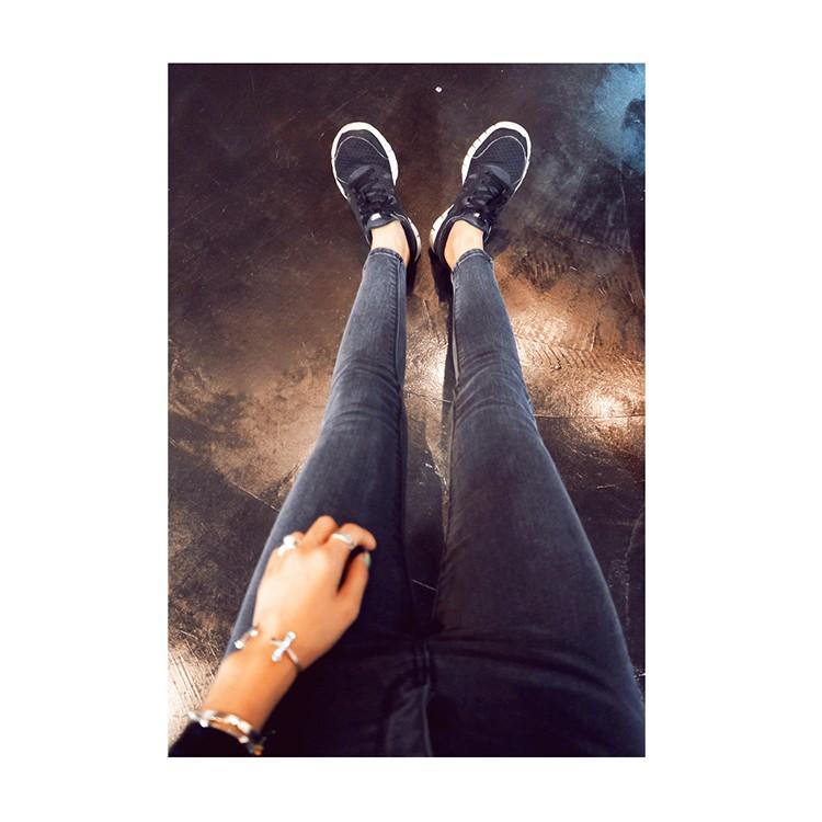 價JDC  風2017 春夏中高腰彈力淺色小腳牛仔褲灰色顯瘦鉛筆褲長褲包郵韓妞 新t 女韓