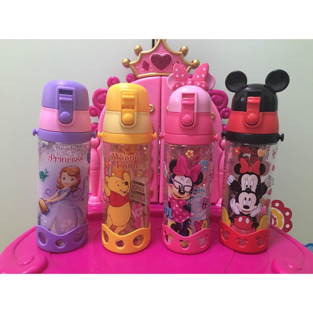 1 2 美人魚 迪士尼公主米奇米妮蘇菲亞小熊維尼汽車閃電麥坤兒童水杯直飲背帶水壺600ml