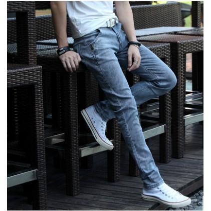 ~部分 ~多款式夏裝黑色薄款牛仔褲男士 修身男裝青少年小腳褲潮男休閒長褲子