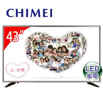 ~逸宸~CHIMEI 奇美43 型廣色域連網LED 顯示器TL 43W600