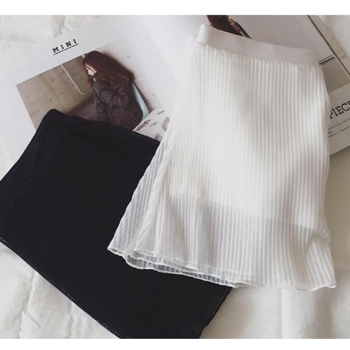 壓摺網紗舒適安全褲防走光 短裙長裙