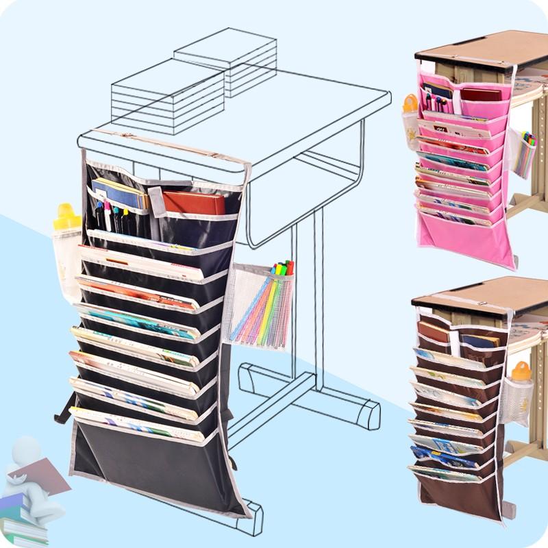 多 學生課桌收納掛袋學生學習掛書袋桌子書本掛袋書桌收納袋