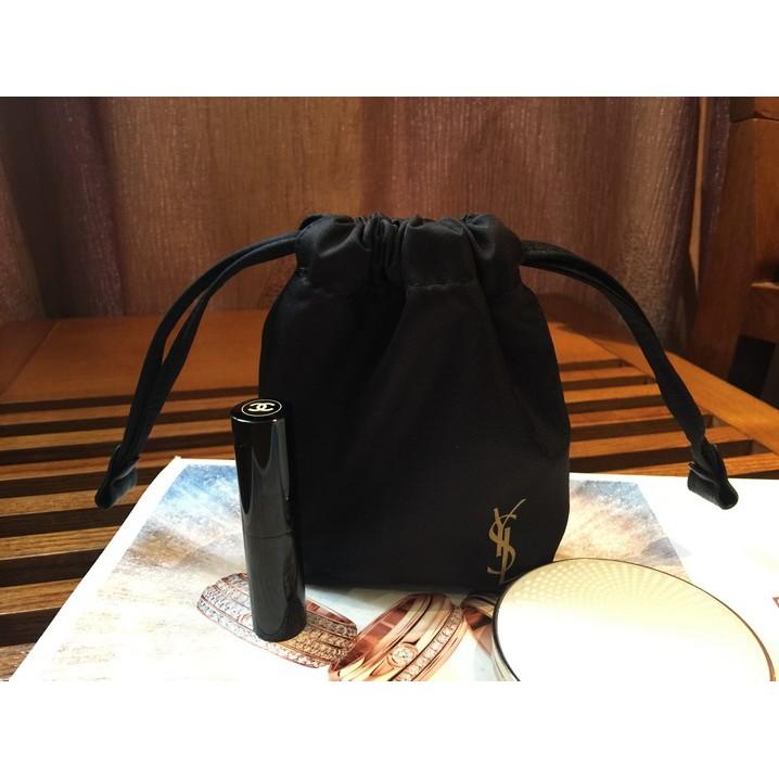 看得到專櫃小物YSL 聖羅蘭束口袋抽繩包包中包化妝包首飾包萬用小物包收納包(YBH25 )