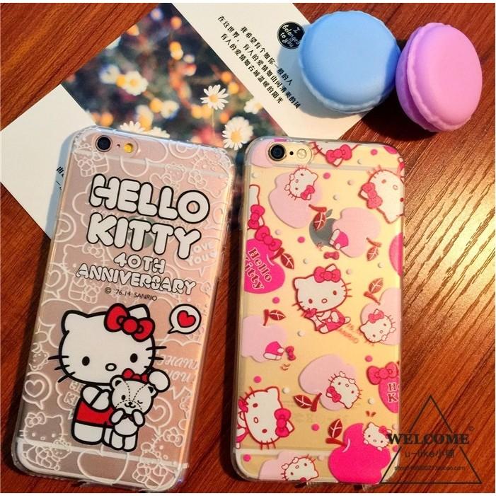 買一送一不挑款APPLE Iphone 6S 6S Plus Hello Kitty 透明