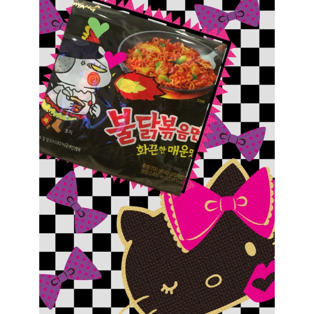 ~~閨密女孩看過來~~韓國三養火辣雞肉風味鐵板炒麵 TOP2 韓國最夯五包一袋