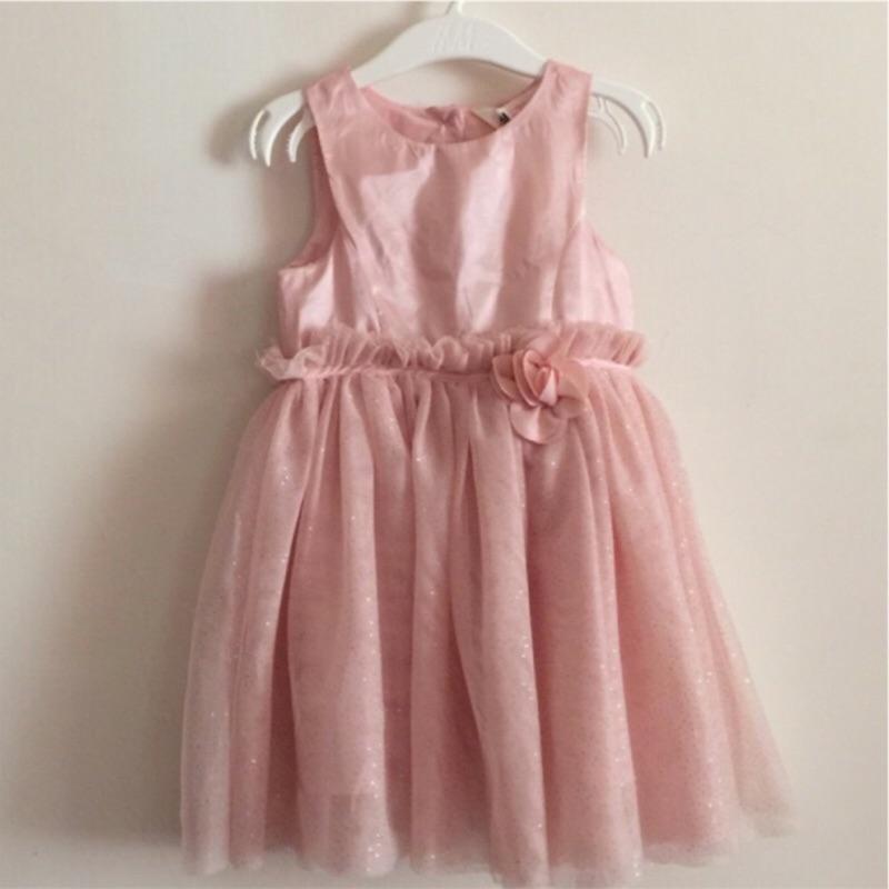 H M 超美粉色小洋裝