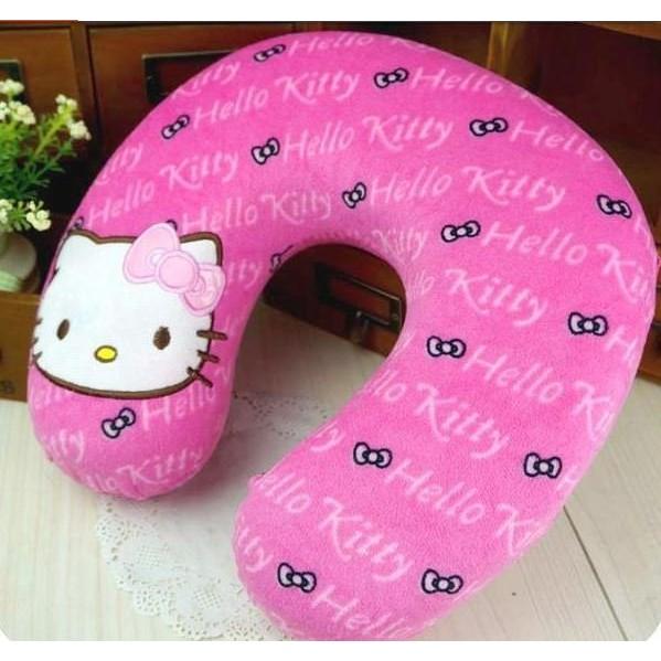 凱蒂貓U 型護頸枕太空記憶枕U 型枕零壓力記憶枕飛機枕hello kitty 午休枕