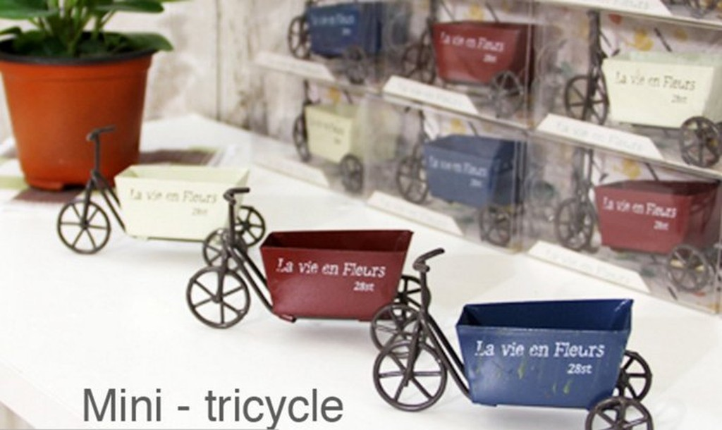 F S 雜貨森林法式三輪車 推車鐵藝ZAKKA 鄉村裝飾品咖啡餐廳服裝店店面佈置拍照道具攝