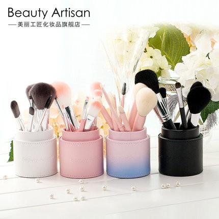 ~ 品牌口碑產品~美麗工匠8 支化妝刷套裝全套初學者韓國可愛帶收納筒