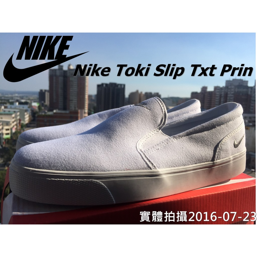 拍攝蝦皮最強Nike Toki Slip Txt Print 耐吉 一腳蹬黑紅白懶人鞋情侶