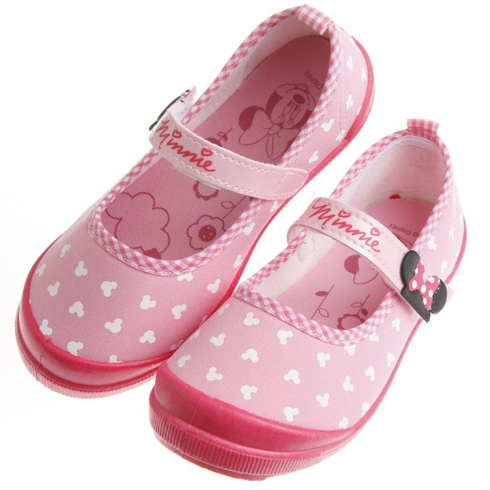 童鞋Disney 迪士尼俏皮米妮印花粉色休閒鞋17 21 公分MDX202G