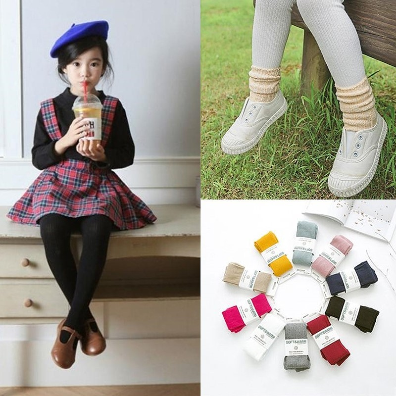 兒童純棉保暖褲襪薑黃色藏青色日韓潮流童襪款式SK DS C833
