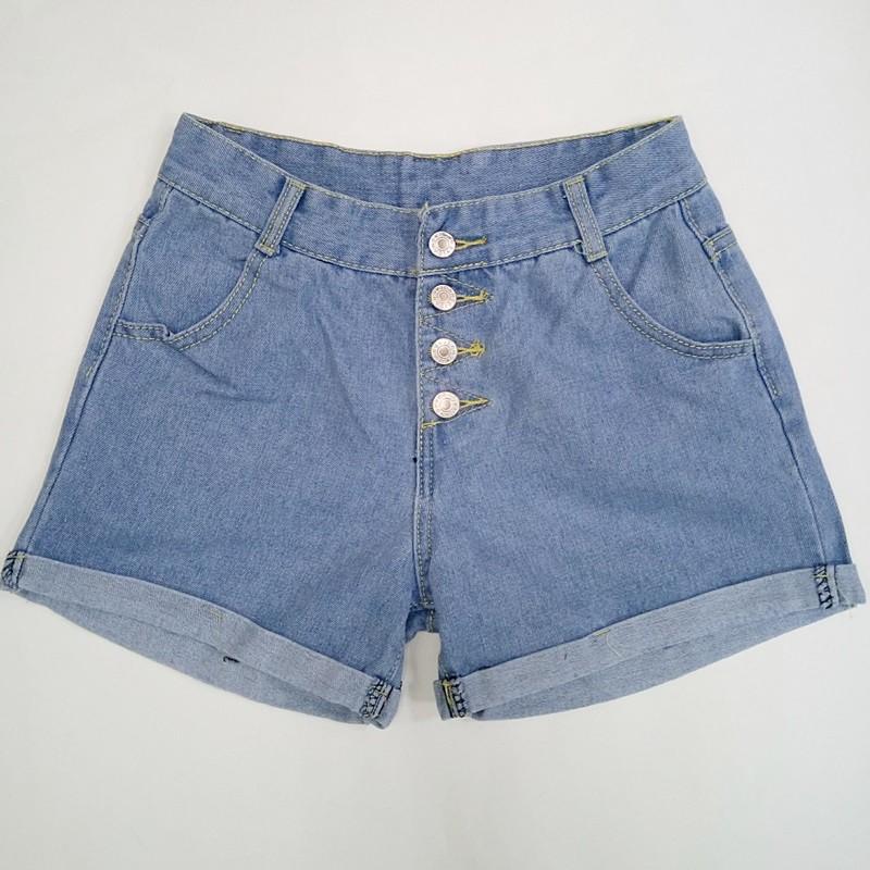 隨便賣牛仔低腰反摺排釦短褲丹寧韓劇迷 牛仔短褲韓衣風格