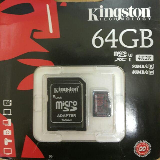 Kingston micro SDXC 64g 4k2k