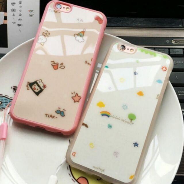↪ ↩蘋果iPhone6s 簡約風清新卡通軟矽膠手機殼手機套保護殼軟殼送禮自用附掛繩