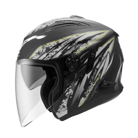 ZS 613B 消光黑AJ5 銀~ 內藏式遮陽鏡片機構,操作方便、可保持良好視線