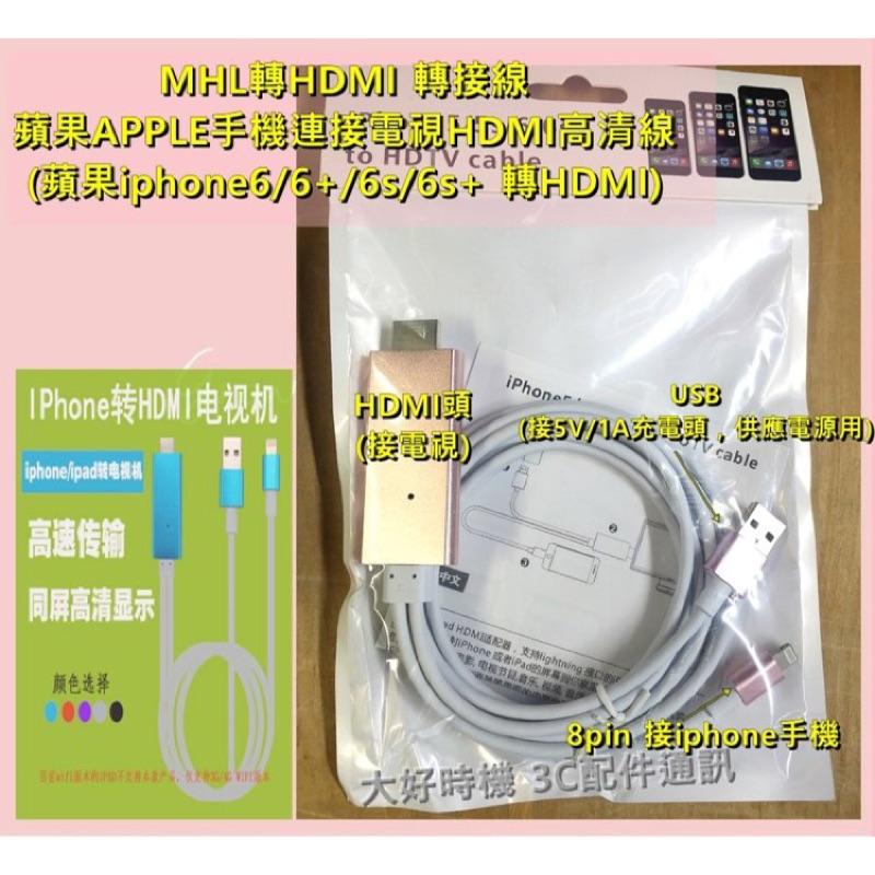 ~大好時機~MHL 轉HDMI 線蘋果iphone6 6plus 轉HDMI 連接