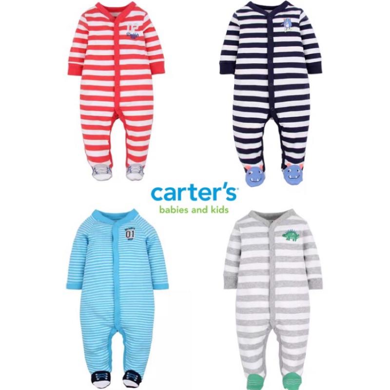 12 17 號已補貨~魚骨頭~Carter s 寶寶長袖連身包腳爬爬衣