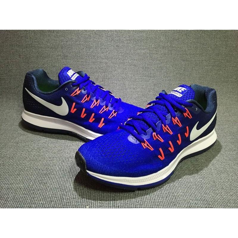 ~真標~Nike Air Zoom Pegasus 33 黑藍831352 401 男士輕
