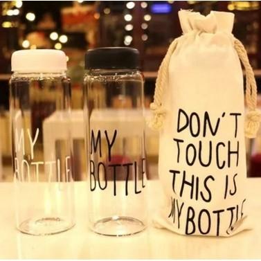 ~ 不用等~MY BOTTLE 雙層玻璃杯500ML 環保隨手隨行杯韓國 玻璃水瓶 水瓶送