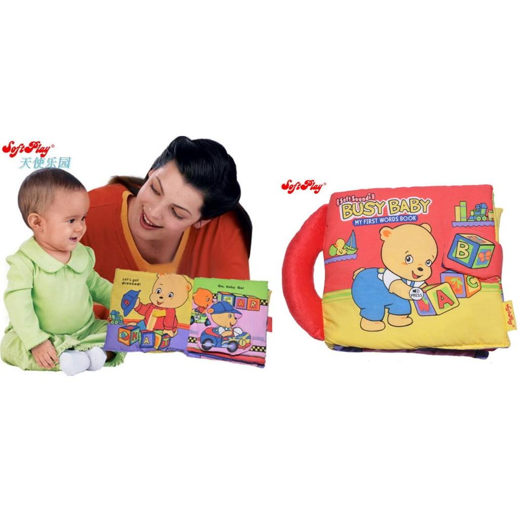 ╭~布偶寶貝~╮A16 提袋~softplay ~可愛小熊忙碌的一天自理音樂聲效多 手提布