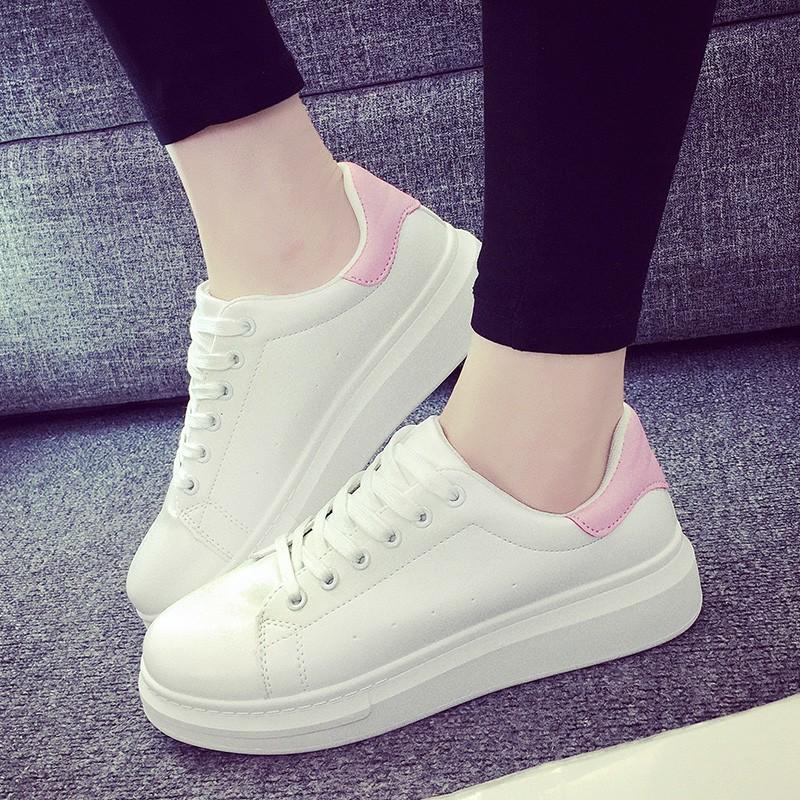 小白鞋女厚底板鞋情侶 鞋休閒鞋學生女鞋跑步鞋透氣單鞋子