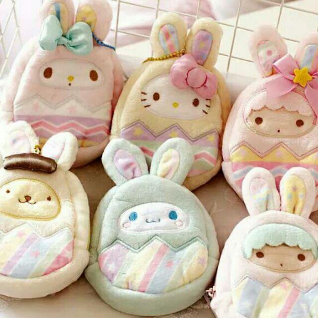 ✨ ✨ 原單三麗歐家族雙子星布丁狗hello kitty 大耳狗美樂蒂復活節兔子蛋錢包