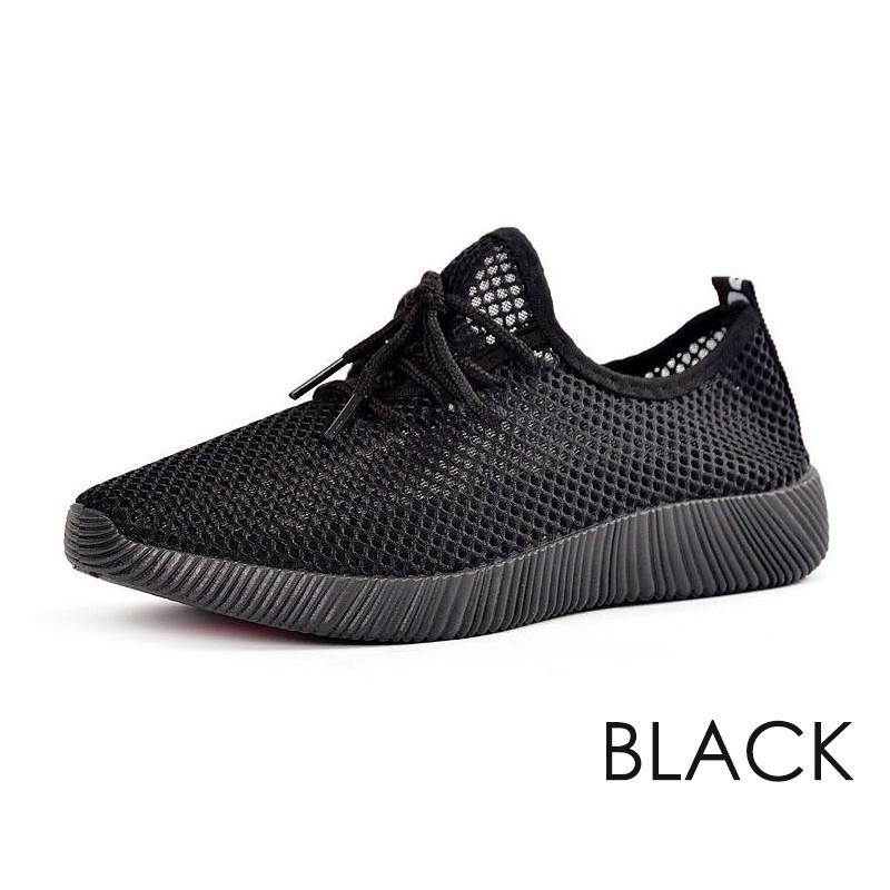 黑色男士單鞋透氣舒適網布鞋