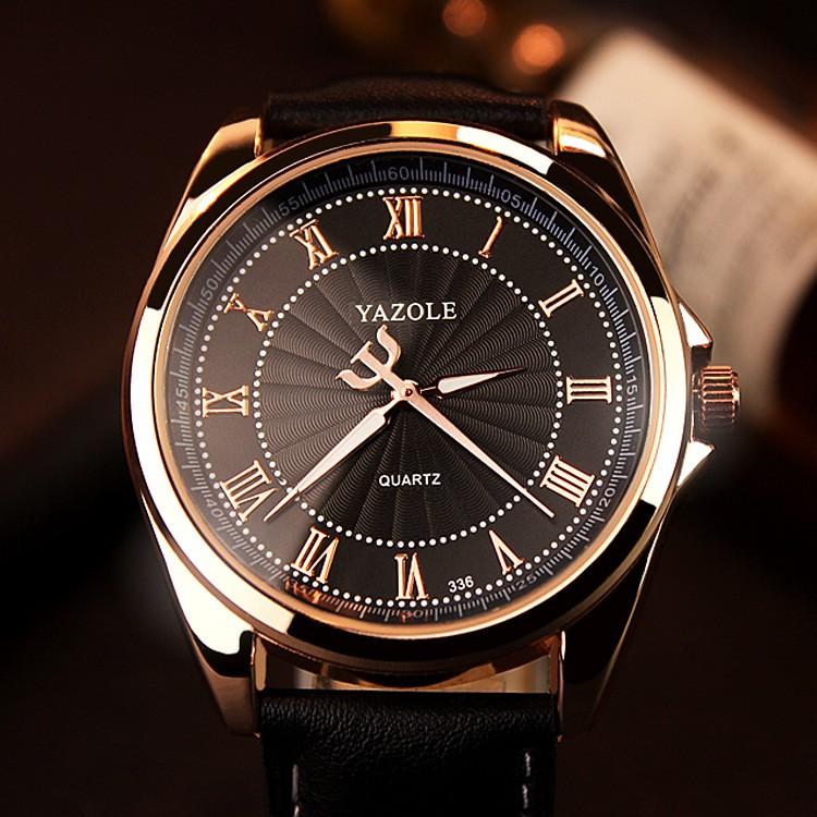 ~柳丁 手錶~336 雅卓倫 金手表男羅馬刻度高端商務手表男士手表石英表