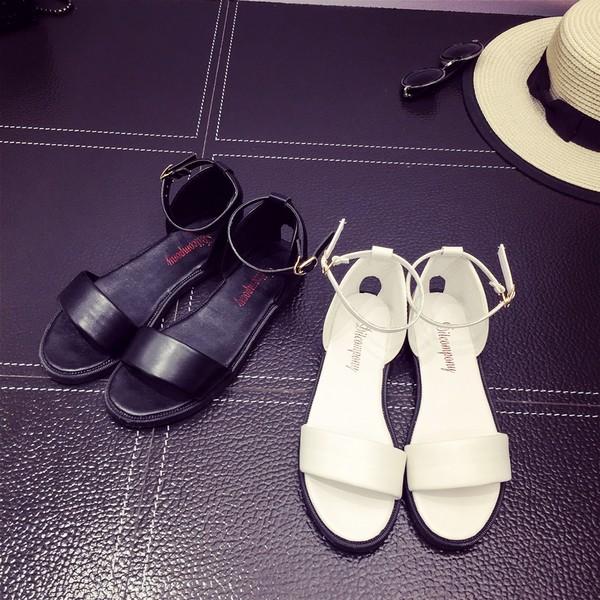 中2016  波西米亞羅馬鞋平底鞋涼鞋女學生露趾平跟韓國百搭女鞋