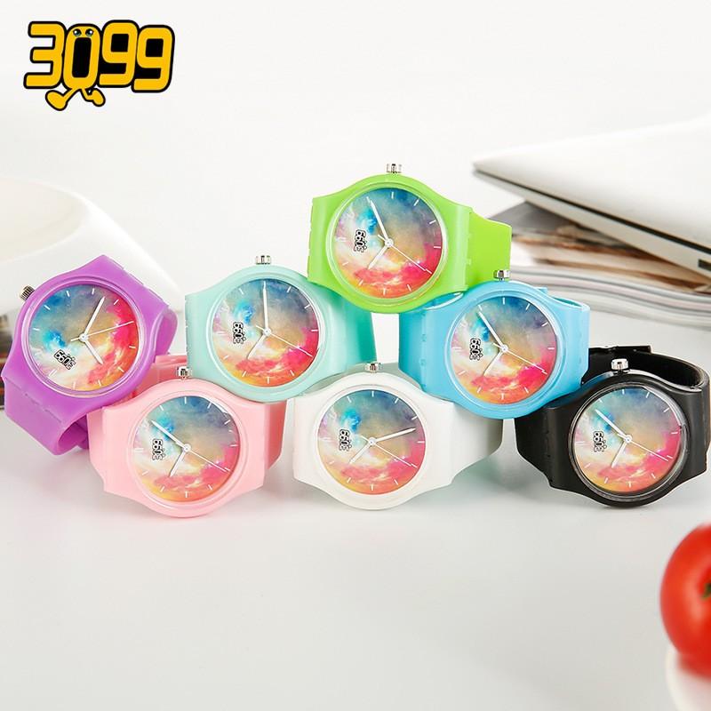韓國 果凍手錶星空防水原宿風潮流男錶女錶情侶學生腕表