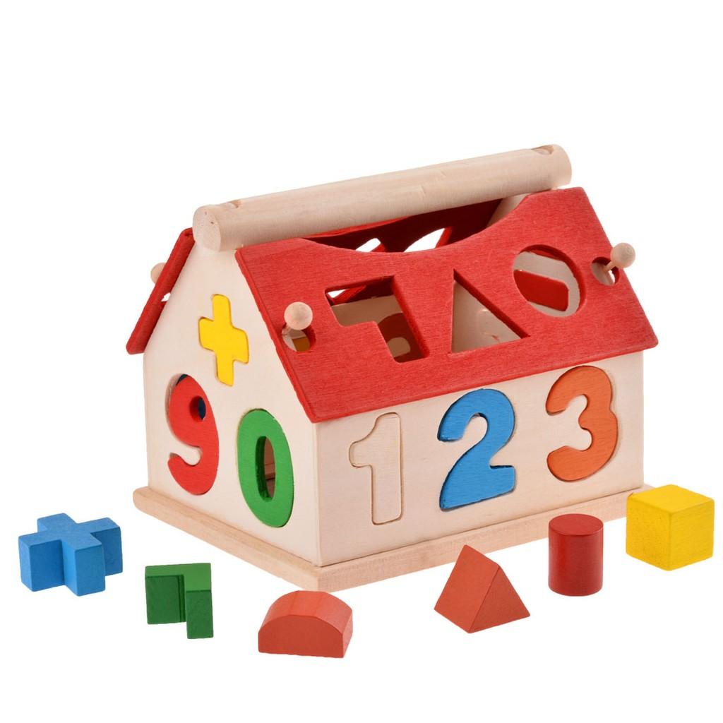形狀配對兒童數字玩具男女孩益智嬰兒玩具多 智慧屋1 2 周歲小小數字屋