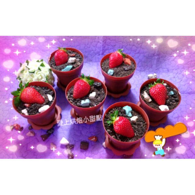 愛上烘焙小甜點盆栽蛋糕巧克力草莓蛋糕