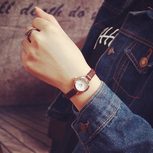 W044 韓國超夯 小錶盤 皮帶金屬錶帶 男錶對錶女錶學生文青手錶手表