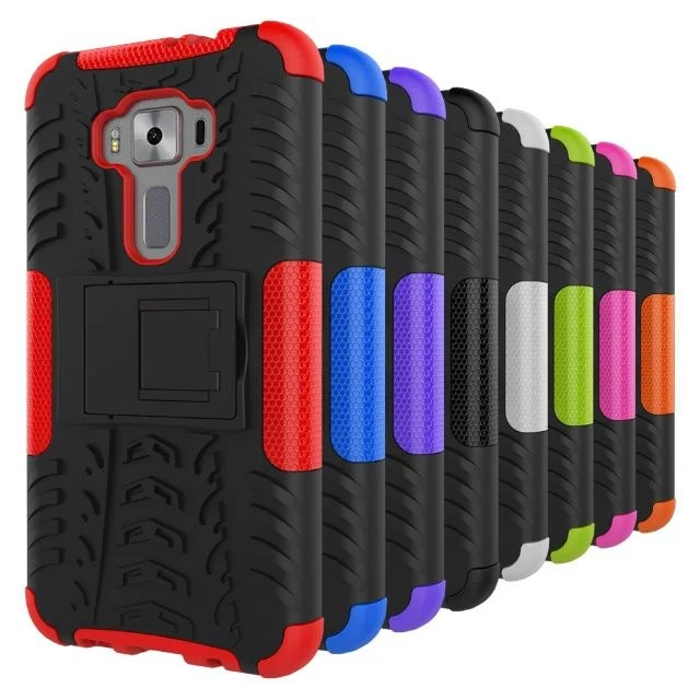 ASUS 華碩zenfone3 ZE520KL 5 2 吋炫紋手機殼二合一防摔帶支架保護套