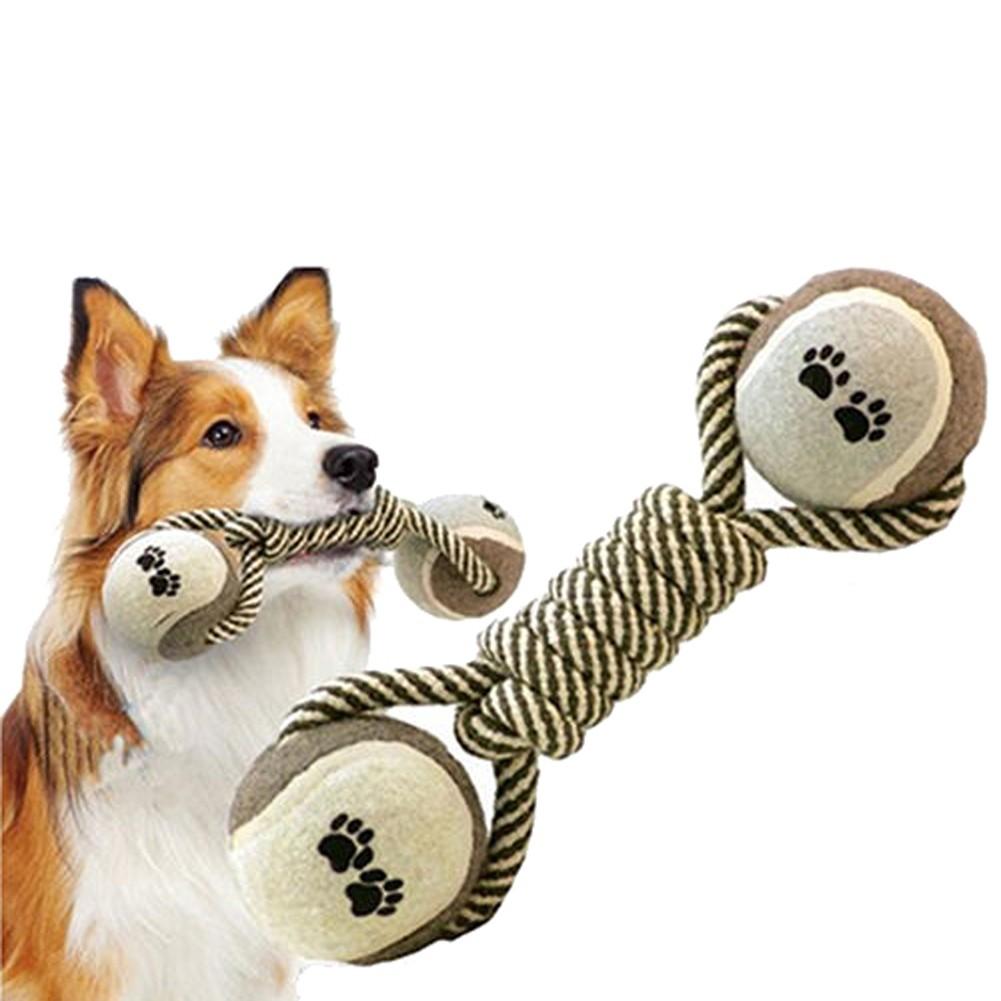 寵物玩具棉繩網球玩具狗咬繩磨牙玩具寵物狗狗玩具金毛繩結耐咬