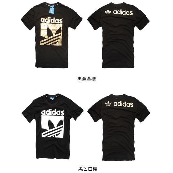adidas 印花圖案T 恤男短T 三葉草短袖T 恤棉T 圓領T 恤短T SHIRT 短衫