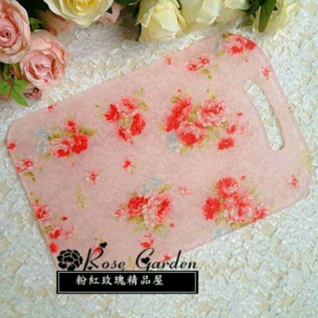 粉紅玫瑰 屋 耶利亞玫瑰砧板粉红色碎花防滑砧板