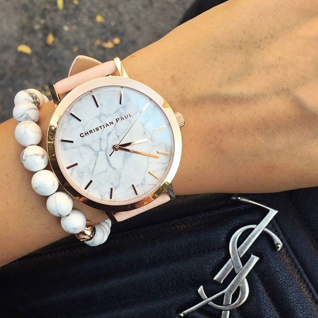 ~Christian Paul ~澳洲 手錶 ,大理石玫瑰金桃色錶帶,不輸DW 、Clus