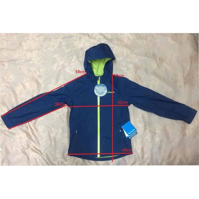 全新 Columbia 哥倫比亞 男童 防風 防水 登山 外套