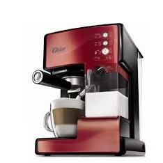 美國OSTER 奶泡大師義式咖啡機PRO 升級版醇酒紅(含磨豆機)