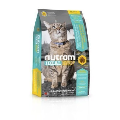 紐頓~I12 ~體重控制貓~雞肉豌豆~nutram 理想系列,加拿大nutram 成貓飼料