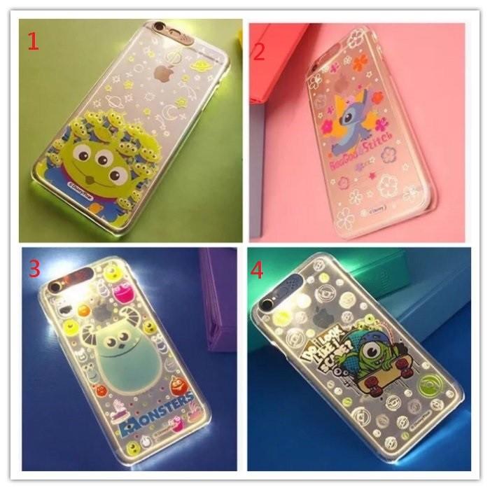迪士尼米奇史迪奇毛怪大眼怪來電閃iphone6 6s 6splus 立體卡通塑膠殼硬殼手機