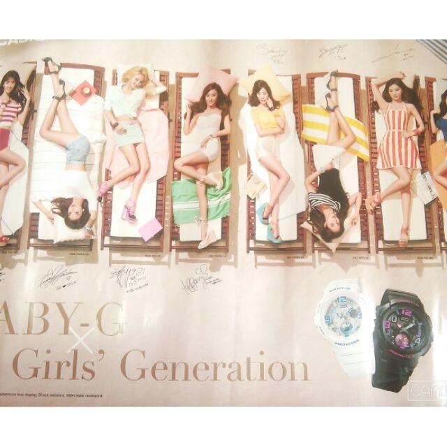 少女時代海報 兩張附卷筒少女時代代言卡西歐casio