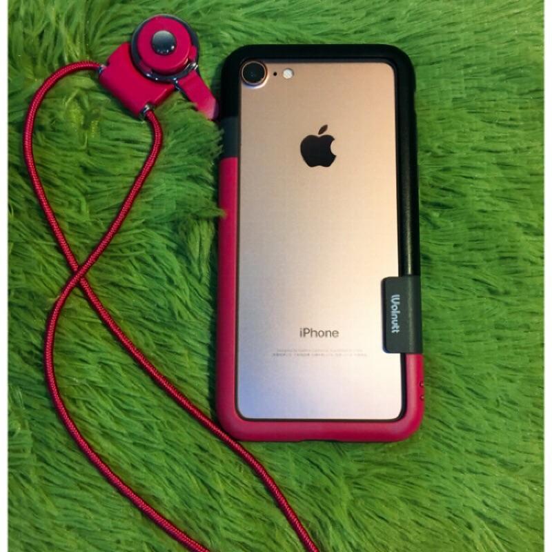 雙色多款式撞色框邊iphone6 手機殼苹果6s 軟矽膠防摔邊框4 7 掛繩手機外殼ㄒ