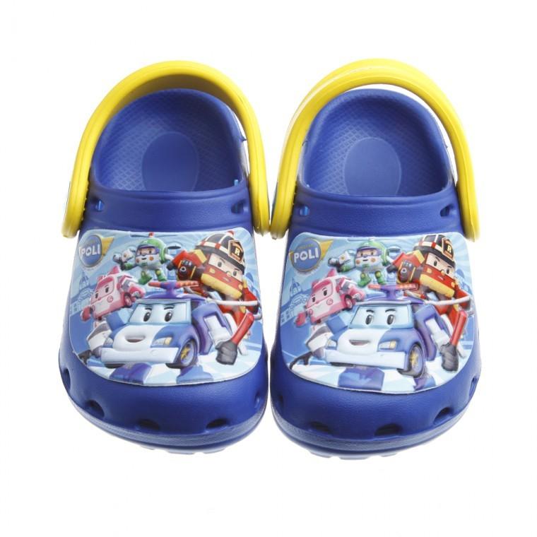 童鞋POLI 救援小英雄大集合藍色兒童布希鞋